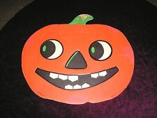 DIE CUT HALLOWEEN DECORATION Pumpkin Luhrs vintage