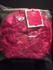 Studio Chic Home 2x Rose Ribbon Bed Canopy Bright Pink Nwt
