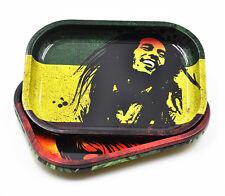 1X Metal Tobacco Rolling Tray 17cm*13cm*1.8cm Handroller BOB MARLEY Storage Tray