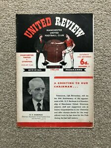 1962/3 MANCHESTER UNITED V LIVERPOOL (WITH TOKEN)