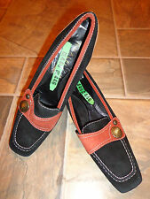 Amalfi by Rangoni Black/Brown/Gold Suede Pumps Dry Cleaned Size 8 AA Gently Used