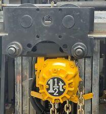 Ingersoll Rand 1 12 Ton Air Chain Hoist And Trolley Hl1500k 3ha10 C10eu New