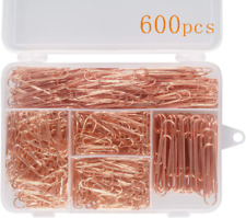 Deoot 600 Paper Clipsoffice Rose Gold Paper Clips Assorted Sizessmallmedium A