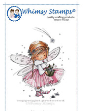 WHIMSY STAMPS - ANNA THE FAIRY - RUBBER STAMP MOUNTED ON CLING CUSHION FOAM