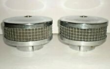 """2 Vintage 4 1/2"""" Chrome Air Cleaners Metal Mesh Filter fits 2 5/8"""" Carb, Rat Rod"""