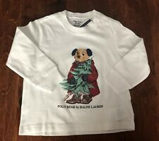 NWT  RALPH LAUREN POLO BEAR LONG SLEEVE TOP SZ 2/2T