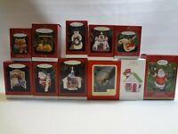 Huge LOT Mixed Lot Of 11 Hallmark Keepsake Christmas Ornaments in Boxes