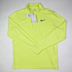 Nike Men's Dri-fit Victory 1/2 Zip Golf Pullover CN1018-736 Yellow Size Medium