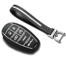 Leather Holster Car Key Cover 5 Buttons for ALFA ROMEO Giulia/stelvio 2017 2018