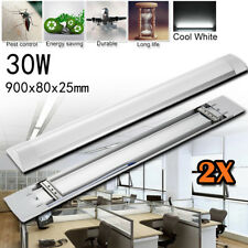 2x 3FT 30W LED Ceiling Batten Linear Light Tube Fixture Neutral White Wall Lamp