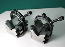 2 Starrett 568 V Blocks Clamps Machinist Metal Lathe Milling Machine Cnc 485