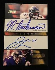 MIKE ANDERSON JAMAL LEWIS 2001 TOPPS DUAL Signed NFL FOOTBALL Card CO-AL