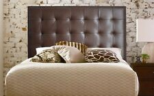 Extra Tall Wall Mounted Queen size Genuine Leather Headboard with Nail Head Trim