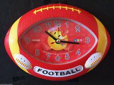 Kids Boys Room Office Deco Desk/Table/Shelf Art Alarm Football Fan Club Clock