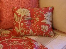 NEW Custom Ralph Lauren Camelia Floral Accent Pillow 1 Button
