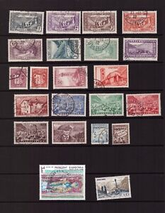 Andorra FR used stamps selection