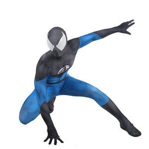 Fantastic 4 Spiderman Jumpsuit Superhero Spider-man Cosplay Costume Halloween US