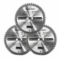 "3PC Kinswood 7-1/4"" 5/8"" 48T Carbide Tip Circular Saw Blade For Metal cutting"