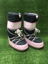 Original Moon Boots Pink & Blue  Snow Winter Boots Size UK 6.5-7.5 Jack Wills