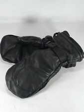 SWANY Toaster Ski Snowboard Black Leather Mittens Gloves Size Female Medium