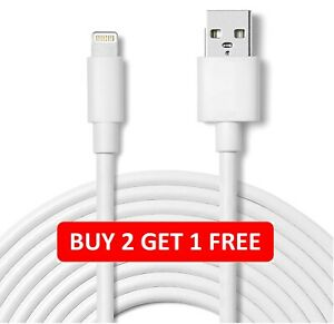 USB Data fast Charger 2.1A Cable Lead For i3 4s 5 6 6s 7 8 X XR 11