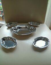 Vintage Plata conjunto de cinco American Bon Bon platos Tiffany & co