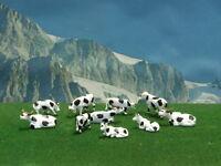 Animali mucche per modellismo pezzi 10 scala 1:87- H0 Krea.