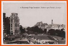 Romania Bucuresti Piata Sanatului Vedere spre Palatul Justitiei 1932