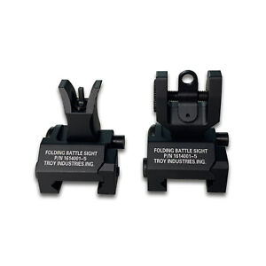 NEW Black Troy Flip-Up Battle Sight, Front Free Shipping From US