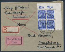 Dt. Reich 25 Pfennig Fridericus 1933 Viererblock Bogenecke Express (S14871)