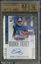 2014 Panini Contenders Rookie Ticket Odell Beckham Jr. RC BGS 9.5 w/ 10 AUTO