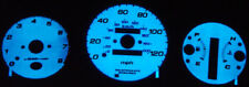 97-01 Honda Crv Cr-V At Blue / Green Glow Gauges 98 99 00 Free Ship Overlay Face