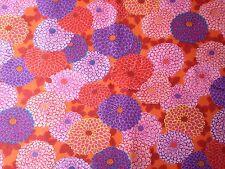 Kaffe Fassett Cotton Fabric Fat Quarter Joy Pink Purple Red Floral Dahlia FQ