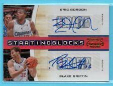 2010-11 Playoff Contenders STARTING BLOCKS Blake Griffin & Eric Gordon #/49 AUTO