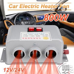 DC 12V/24V 800W Car Fan Heater Rapid Heating Warm Windscreen Defroster Demister