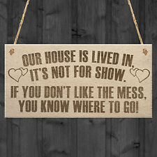 Our House Is Lived In Parents New Home Kids Hanging Plaque Children Gift Sign