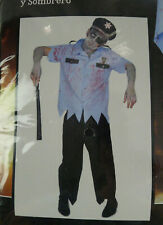 Zombie Officer Cop Karnival Costumes XL X-Large Complete Outfit Halloween Men's