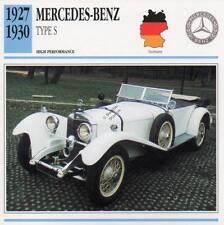 1927-1930 MERCEDES BENZ Type S Classic Car Photo/Info Maxi Card