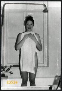 pretty girl under shower, tongue, Vintage fine art Photograph, 1970'