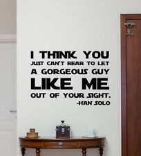 Star Wars Quotes Wall Decal Han Solo Vinyl Sticker Decor Poster Mural Art 202crt