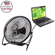 360 Degree Rotation USB Desk Fan Personal Portable Table Fans Desktop Clip on