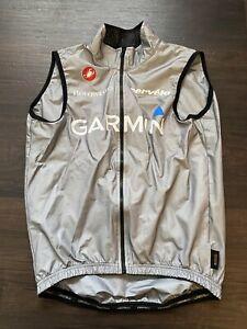 Castelli Rain Vest Gillet Packable eVent Garmin Cervelo Small