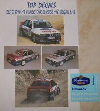 NEWS ADDITIF 1/18 BMW M3 WINNER TOUR DE CORSE 1987 BERNARD BEGUIN TOP DECALS