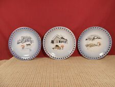 "Bing & Grondhal Harald Wiberg Tomten Elf Set of 3 Decorative Plates 6 7/8"""