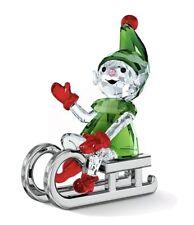 Swarovski Crystal Santa's Elf on Sleigh New in Box 5533947 Fast Ship