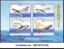 CHINA / TAIWAN - 2002 DOLPHINE / FISH - MINIATURE SHEET MINT NH