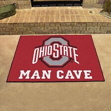 "Ohio State Man Cave 34""x43"" All-Star Area Rug Mat"