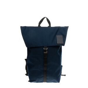 RRP €345 NEIL BARRETT Flap Backpack Large Lightning Bolt Patch Made in Italy