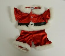 Build A Bear ~ Red Velvet Fur Trimmed Christmas Santa Suit