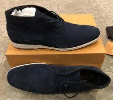 $625 New Tods Mens Blue Shoes Polloca Gomma Boots Size 12.5 US 11.5 UK 45.5 EU